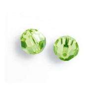 Bola pasante 8502/10mm Light Peridot Swarovski Crystal