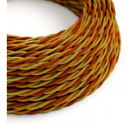 Cable Trenzado 3G0,75 textil Rayon Orange