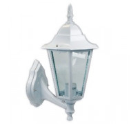 Farol grande de pared jardín aluminio blanco up